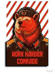 quot vote soviet bear russian bear meme quot stickers by king84 redbubble