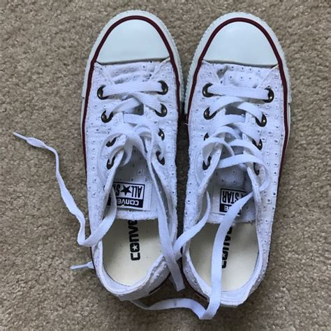 white pattern converse 24 off converse shoes converse chuck taylor white low