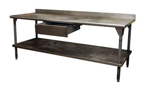 metal kitchen prep table industrial metal kitchen prep table olde things