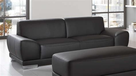 3 sitzer sofa mit federkern sofa manila 3 sitzer in schwarz mit federkern und