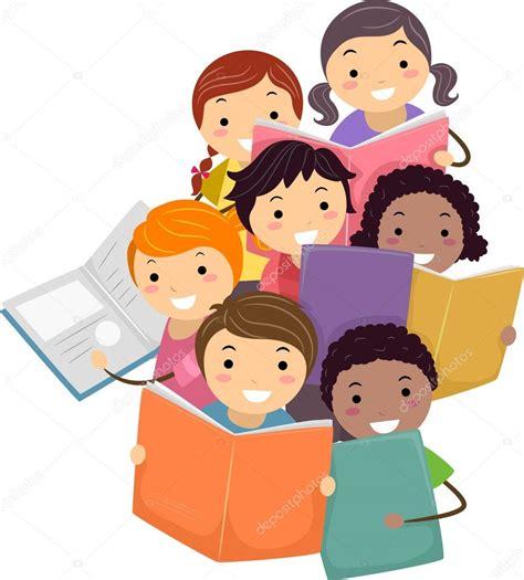 imagenes infantiles niños leyendo ilustraci 243 n de stickman ni 241 os leyendo libros foto de