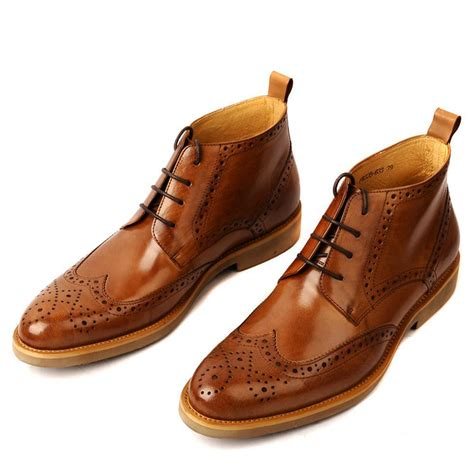2017 new s boots genuine leather eu38 44 autumn winter durable shoes lace up brogue