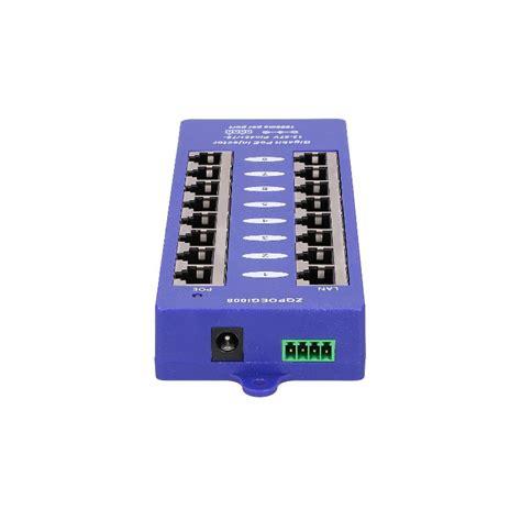 Poe Injektor 8port Murah poe injector 8 port gigabit poe8pg poe panels power adapters eurodk