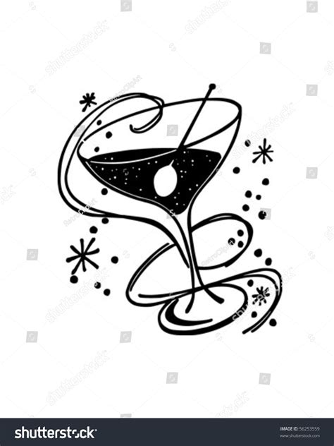 retro cocktail clipart cocktail glass retro clip stock vector illustration