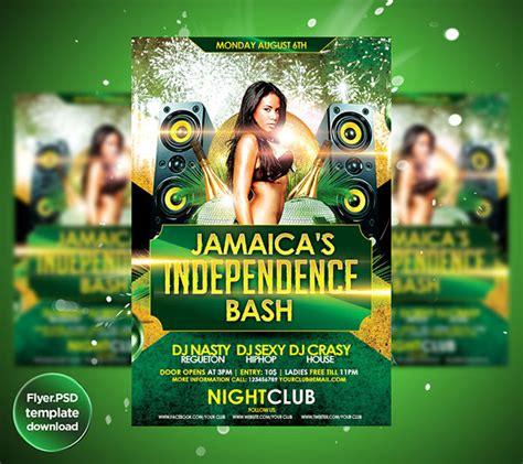 flyer design jamaica jamaica s independence day flyer template on behance