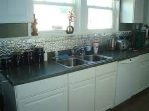 white tin backsplash metal backsplash with white cabinets kitchen ideas