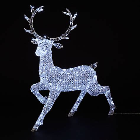 buy john lewis crystal reindeer 300 led indoor outdoor