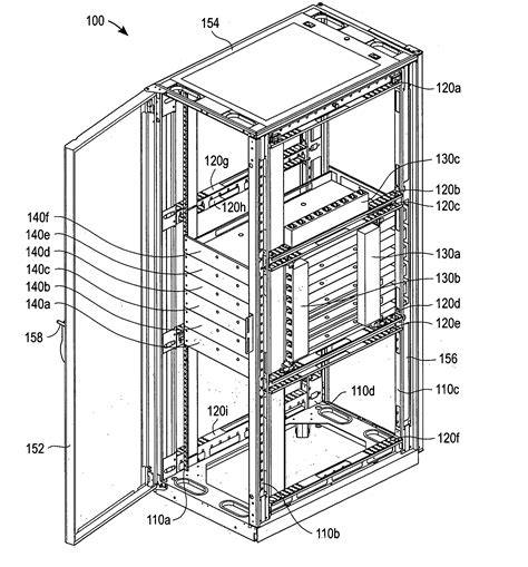 How Many Rack Units In A Standard Rack by Patent Us20040189161 Zero Rack Unit Space Utilization