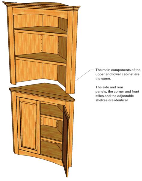 pdfwoodworkplans plans  corner cupboard plans