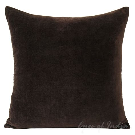 Big Sofa Pillows 24 Quot Large Brown Velvet Decorative Cushion Pillow Cover Indian Boho Decor Ebay