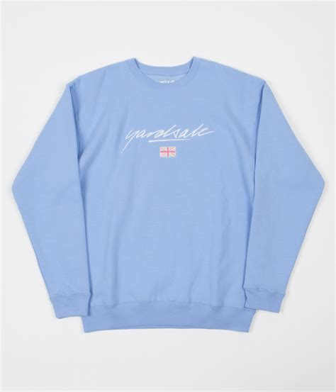yardsale commonwealth crewneck sweatshirt baby blue
