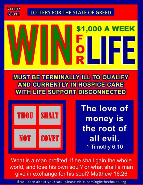 Win Money A Week For Life - win 1000 a week for life lottery ticket parody coming in the clouds