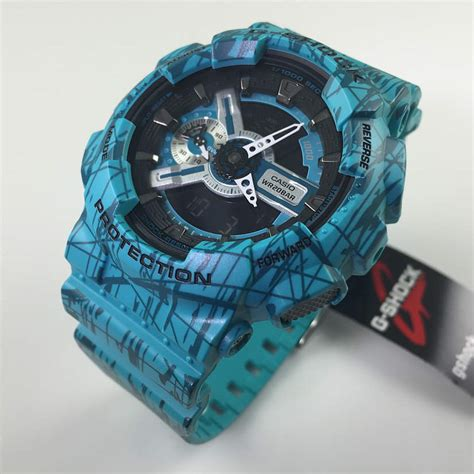 G Shock Blue blue casio g shock analog digital xl ga110sl 3a