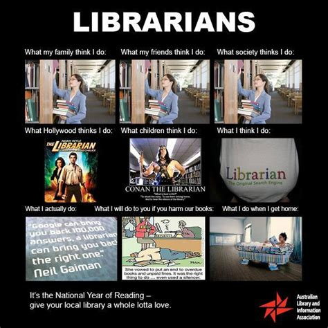 librarian meme what my friends think i do librarians blue mountains