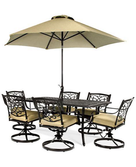 Macy S Patio Table Wentley Patio Furniture Outdoor 7 Set 70 Quot X40
