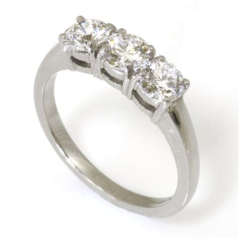 18ct white gold trilogy ring from wrights the