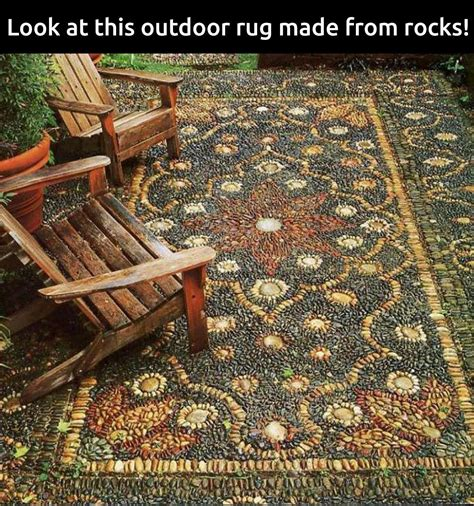 how to make an outdoor rug rock rug rugs ideas