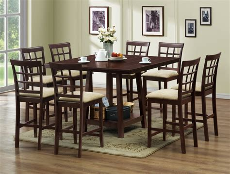 Pub Dining Room Sets Baxton Studio Katelyn Modern 7pc Pub Dining Table Set