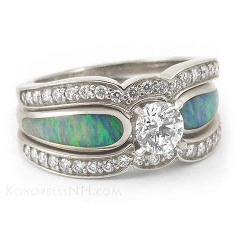 turquoise opal engagement turquoise wedding rings and opal engagement ring