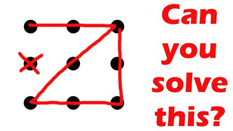 the line challenge can you solve this puzzle nine dots four lines challenge