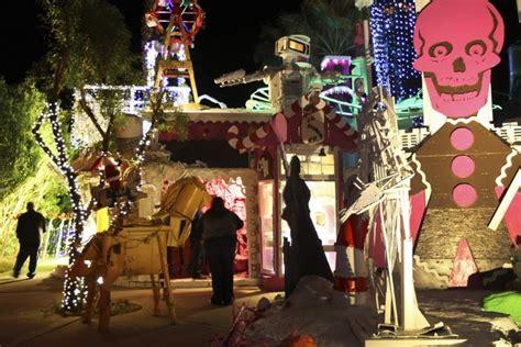 crazy robolights art installation in california