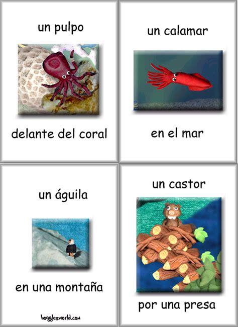 printable animal habitat cards spanish flashcards and teaching materials language teachers