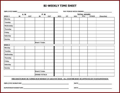 employee weekly time card template daily time sheet printable printable 360 degree