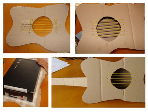 Make A Paper Guitar - shoebox guitar search diy guitar