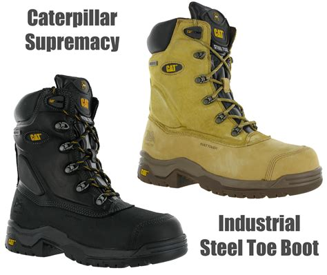 Free Kaos Kaki Caterpillar Safety Boot Zipper Steel Toe Bagus Murah 1 cat caterpillar supremacy safety steel toe cap waterproof mens boots uk6 13 ebay