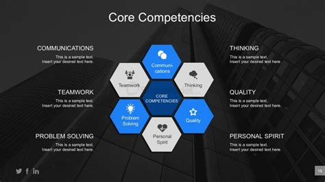 Business Core Competencies Editable Powerpoint Diagram Slidemodel Business Plan Powerpoint Template Free