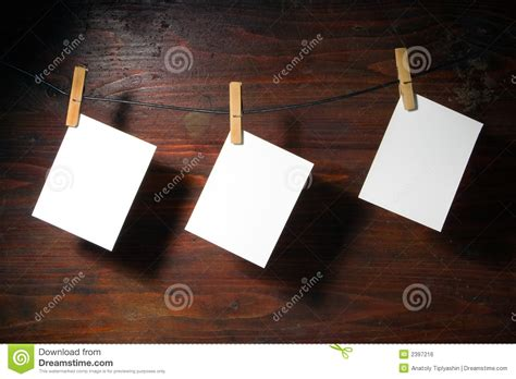 Paper Peg white paper clothes peg rope royalty free stock image