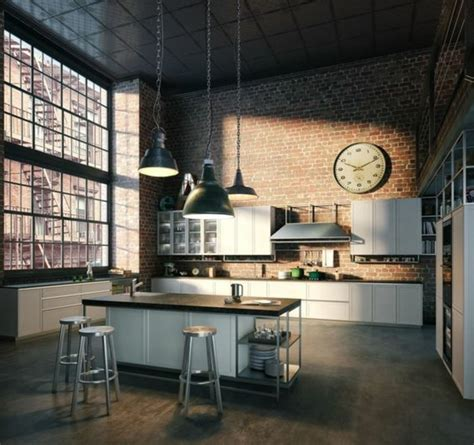 Cuisine Style Loft by Cuisine Industrielle L 233 L 233 Gance Brute En 82 Photos