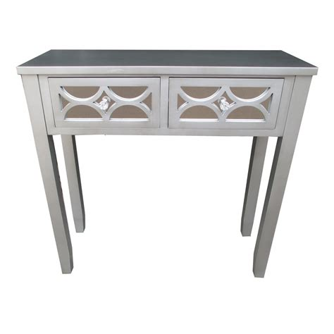 Grey Console Table 32 Quot H Grey Wooden 2 Drawer Console Table