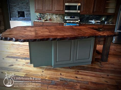 kitchen slab natural wood countertops live edge wood slabs