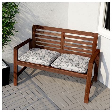 ikea benches outdoor 196 pplar 214 bench with backrest outdoor brown stained ikea