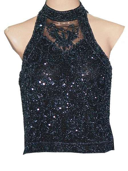 beaded and sequined tops sleeveless sequin and beaded top shopping shop