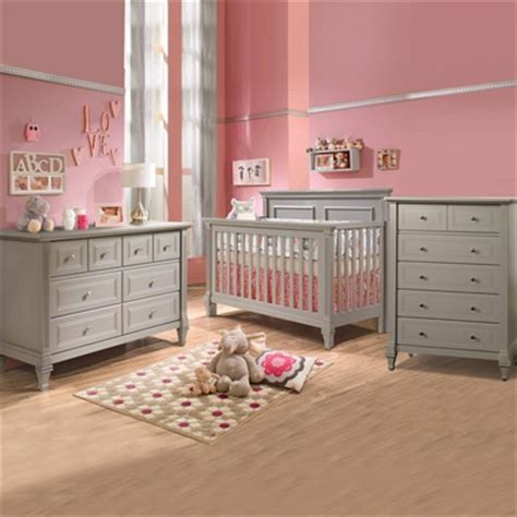 Natart Belmont 3 Piece Nursery Set 4 In 1 Convertible Convertible Crib And Dresser Set