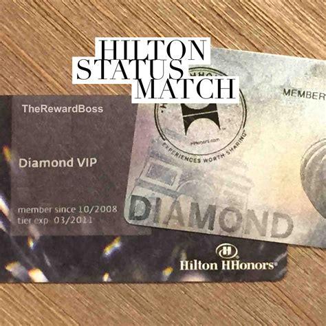 hilton honors diamond status confirmed hilton diamond status match via spg platinum