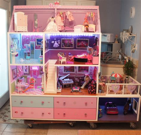 images of barbie doll houses barbie doll house completed lights camera and action flickr