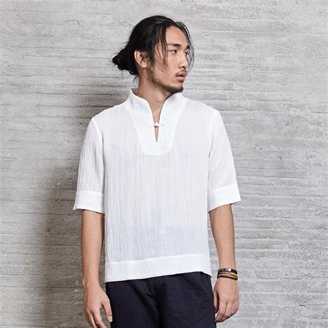 dress shirt picture more detailed picture about asian style dresses mens casual shirt half sleeve 100 linen chinese japanese