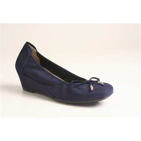 shoe wedges sabrinas sabrinas marino blue nubuck leather wedge shoe