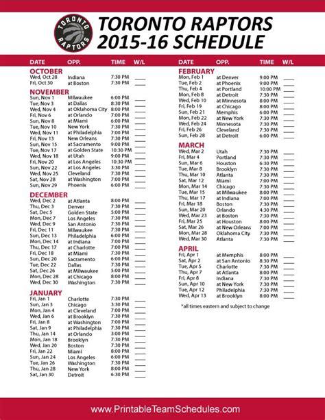 Printable Raptors Schedule 2015 16 | toronto raptors 2015 16 schedule printable version here
