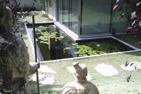 santa monica modern koi pond
