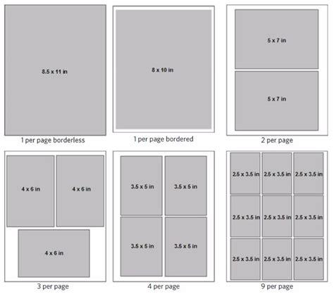 layout photo print print layouts