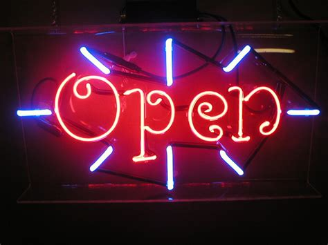 Lighted Open Sign by Neon Open Signs