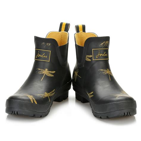 boat shoes joules joules womens wellington boots black rubber dragonfly
