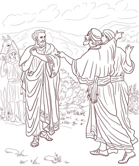Camel And The Evil Colouring Book Children S Stories From jesus healed the of the nobleman coloring page