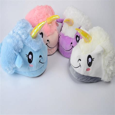 unicorn house slippers new winter plush unicorn slippers cute funny couple slipper men women home house shoes