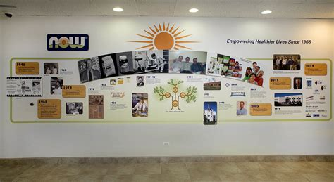 Custom Printed Wall Murals history timeline walls for corporations