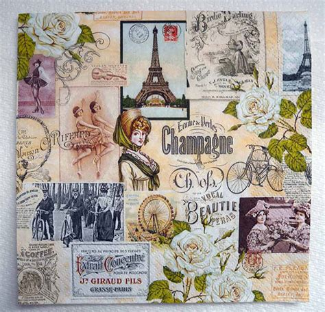 Decoupage Technique With Paper Napkins - napkin decoupage technique images